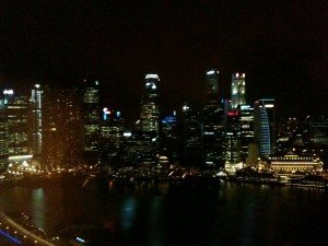 View of Marina Bay, Singapore from my 39th floor hotel room