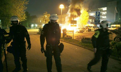 Riots in Stockholm, Sweden